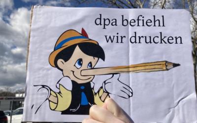 DEMO FREIBURG Berichterstattung 2021 – Badische Zeitung Schwurbelt!